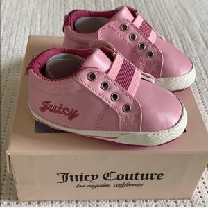 Juicy Couture Velcro baby soft sole shoe